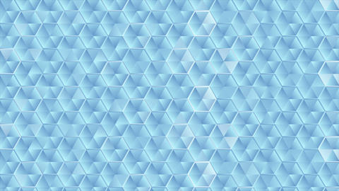 Abstract glass blue hexagons texture video animation Animation