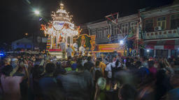 Silver chariot carry lord Murugan on the procession Footage