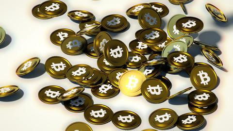 ビットコイン CG動画素材