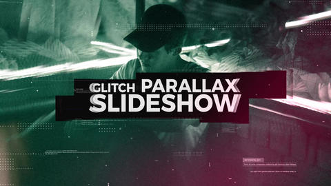 Glith Parallax Slideshow Premiere Pro Template