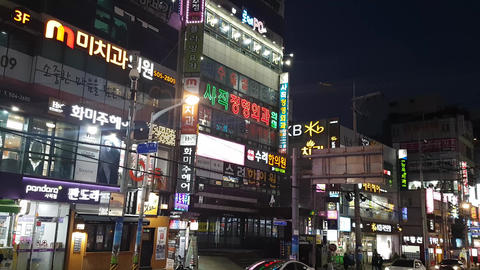 Street view of Sajik-Dong Busan 05 Footage