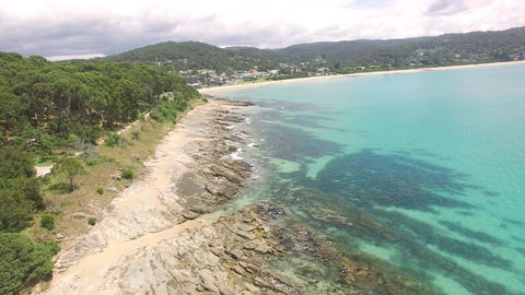 Lorne Beach Aerial, Great Ocean Road, Victoria, Australia Footage