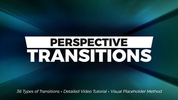 Perspective Transitions Premiere Pro Template