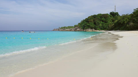 Deserted white sand beach on Similan islands Footage