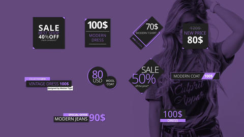 Price Tags and Titles After Effects Template