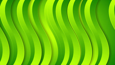 Bright green abstract wavy video animation Animation