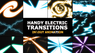Electric Transitions Premiere Pro Template