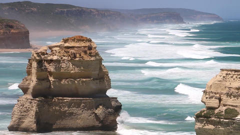Rocks Of The 12 Apostles, Australia (5 in 1 file) Footage