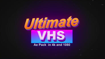 Ultimate VHS Pack After Effects Template