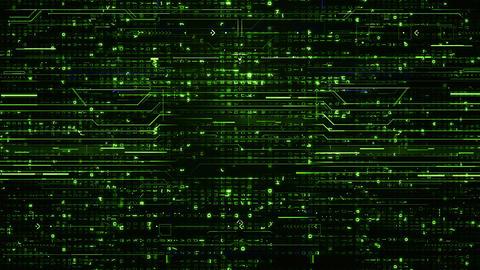 Loop digital green Hi-Tech Backgrounds CG動画素材