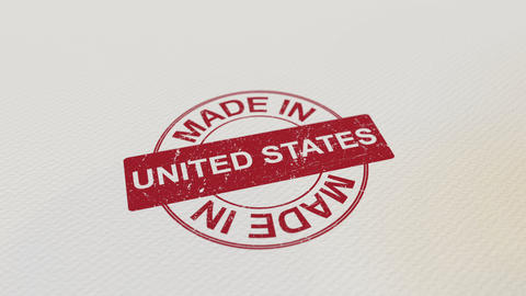 MADE IN UNITED STATES wooden stamp Footage