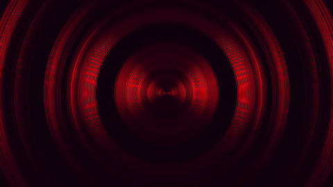 Red Round Circular Waves Tunnel VJ Loop Motion Background 動画素材, ムービー映像素材