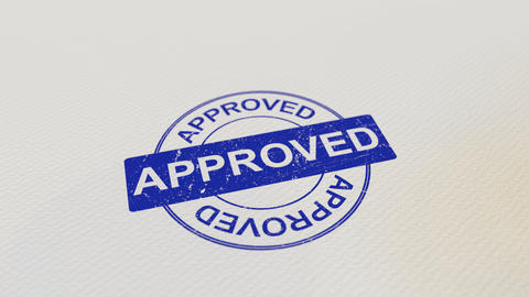 APPROVED wooden stamp Live Action