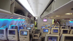 Interior of the passenger airplane Footage