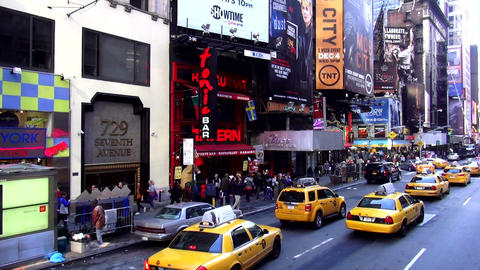Yellow Cabs at Times Square New York – MANHATTAN, NEW YORK/USA NOVEMBER 20, 20 Footage