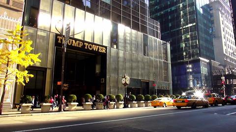 Trump Tower on Fifth street Manhattan – MANHATTAN, NEW YORK/USA NOVEMBER 20, 2 Live Action