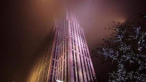 Rockefeller Center in the mist – MANHATTAN, NEW YORK/USA NOVEMBER 20, 2013 Live Action