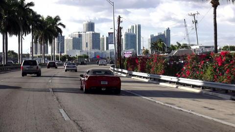 Driving to Miami Downtown – MIAMI, FLORIDA/USA OCTOBER 23, 2013 Footage
