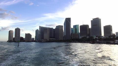 Miami Downtown skyline – MIAMI, FLORIDA/USA OCTOBER 23, 2013 Footage