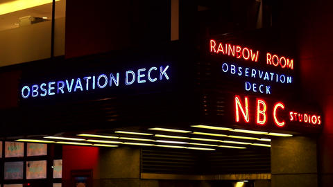 Rockefeller Center Entrance to the Observation deck and NBC Studios – MANHATTA Footage
