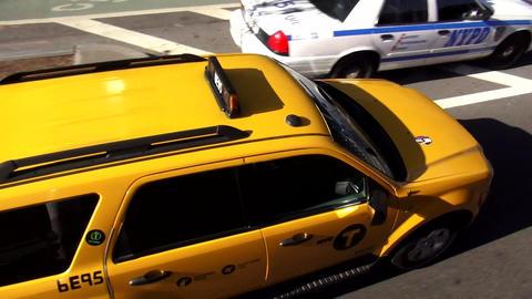 Yellow Cab driving in Manhattan New York – MANHATTAN, NEW YORK/USA NOVEMBER 20 Live Action