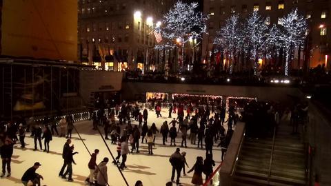 Ice Rink at Rockefeller Center – MANHATTAN, NEW YORK/USA NOVEMBER 20, 2013 Live Action