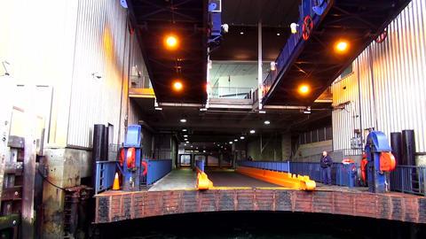 Staten Island Ferry departing from Manhattan Terminal – MANHATTAN, NEW YORK/US Live Action