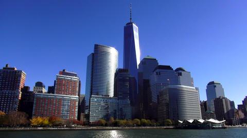 Manhattan Financial district with new World Trade Center – MANHATTAN, NEW YORK Footage