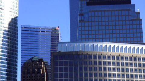 Manhattan Financial district with new World Trade Center – MANHATTAN, NEW YORK Footage