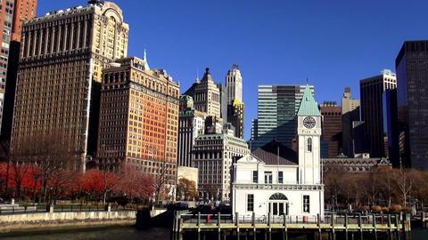 Pier A at Battery Park and Financial district Manhattan – MANHATTAN, NEW YORK/ Live Action