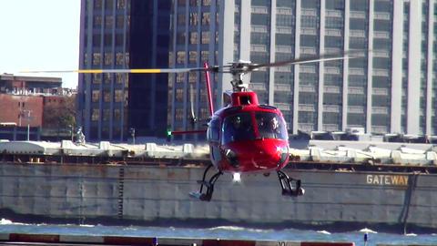 Helicopter landing at Manhattan Heliport – MANHATTAN, NEW YORK/USA NOVEMBER 20 Live Action