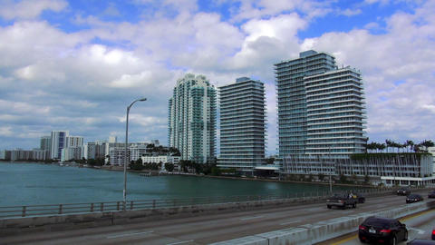 Miami Beach Skyscrapers – MIAMI, FLORIDA/USA OCTOBER 23, 2013 Footage