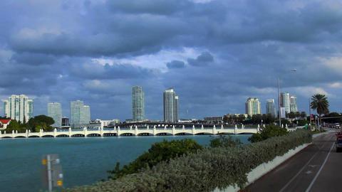 Miami Beach Skyline – MIAMI, FLORIDA/USA OCTOBER 23, 2013 Footage