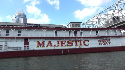 Majestic Show Boat Cincinnati - CINCINNATI, OHIO/USA OCTOBER 10, 2013 Footage