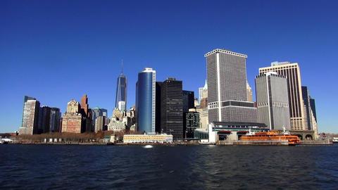 Manhattan Skyline Financial District of Manhattan Downtown – MANHATTAN, NEW YO Live Action
