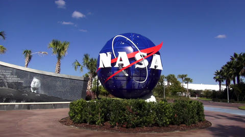 NASA Logo at Kennedy Space Center Cape Canaveral – CAPE CANAVERAL, FLORIDA/USA Footage