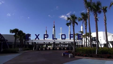 Explore Kennedy Space Center florida. – CAPE CANAVERAL, FLORIDA/USA OCTOBER 18 Footage