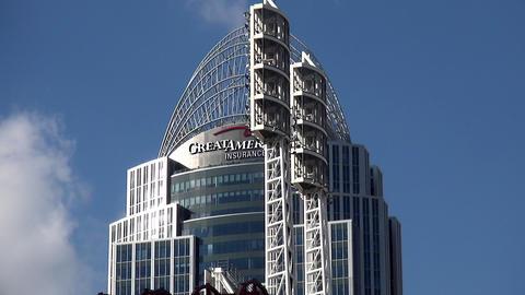Famous skyscraper Great American Insurance Group Cincinnati - CINCINNATI, OHIO/U Footage