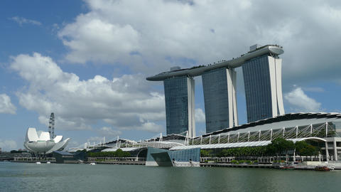 Time lapse from Hotel and casino Marina Bay Sands Footage