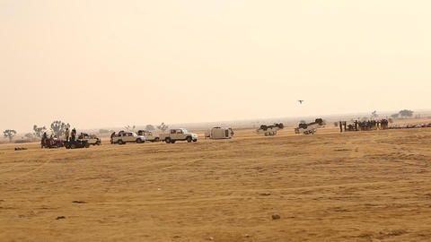 Accident cars in Desert Live Action