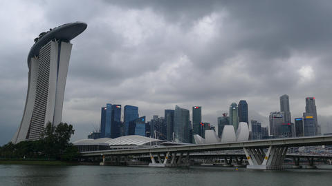 Time lapse from Hotel and casino Marina Bay Sands and skyline Footage