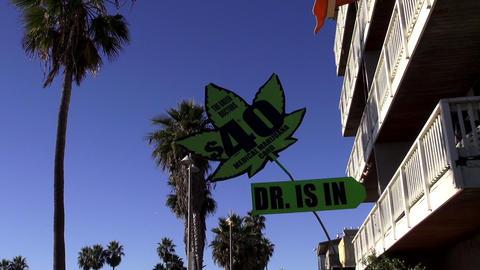 Medical Marijuana At Venice Beach – LOS ANGELES, CALIFORNIA NOVEMBER 8,2012 stock footage