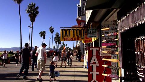 Oceanwalk at Venice Beach California – LOS ANGELES, CALIFORNIA NOVEMBER 8,2012 Live Action