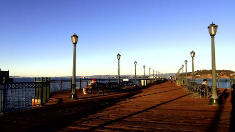 Beautiful pier in San Francisco in the evening - SAN FRANCISCO, CALIFORNIA NOVEM Live Action