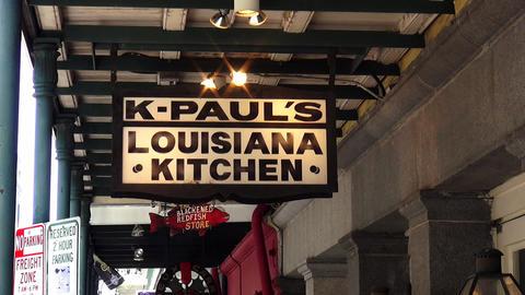 Famous K-Pauls Louisiana Kitchen – NEW ORLEANS, LOUISIANA/USA OCTOBER 29, 2013 stock footage