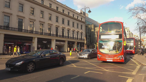 London The Strand - LONDON,ENGLAND FEBRUARY 20, 2016 Live Action