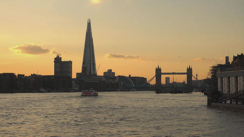The Shard Building at sunset - LONDON,ENGLAND FEBRUARY 20, 2016 Footage