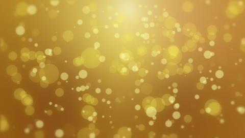 Glowing golden yellow bokeh background CG動画素材