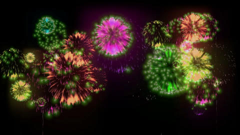 Beatiful firework at holiday night Live Action