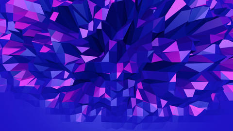 Violet low poly waving surface 영상물